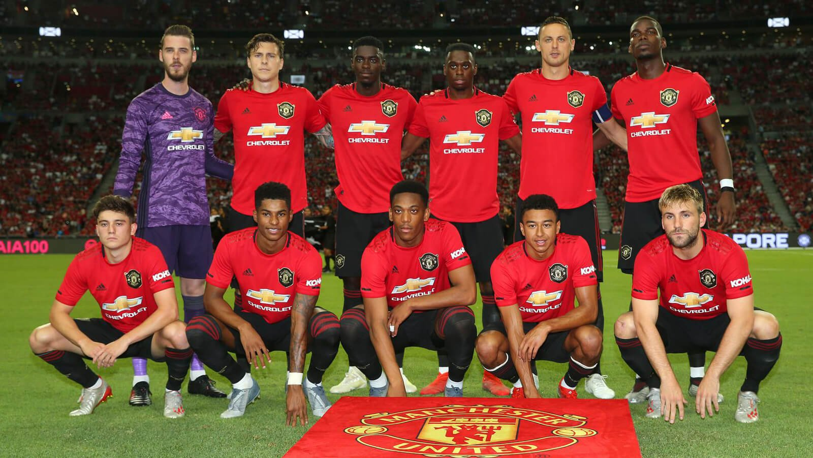 Man Utd Tour 2019 Team