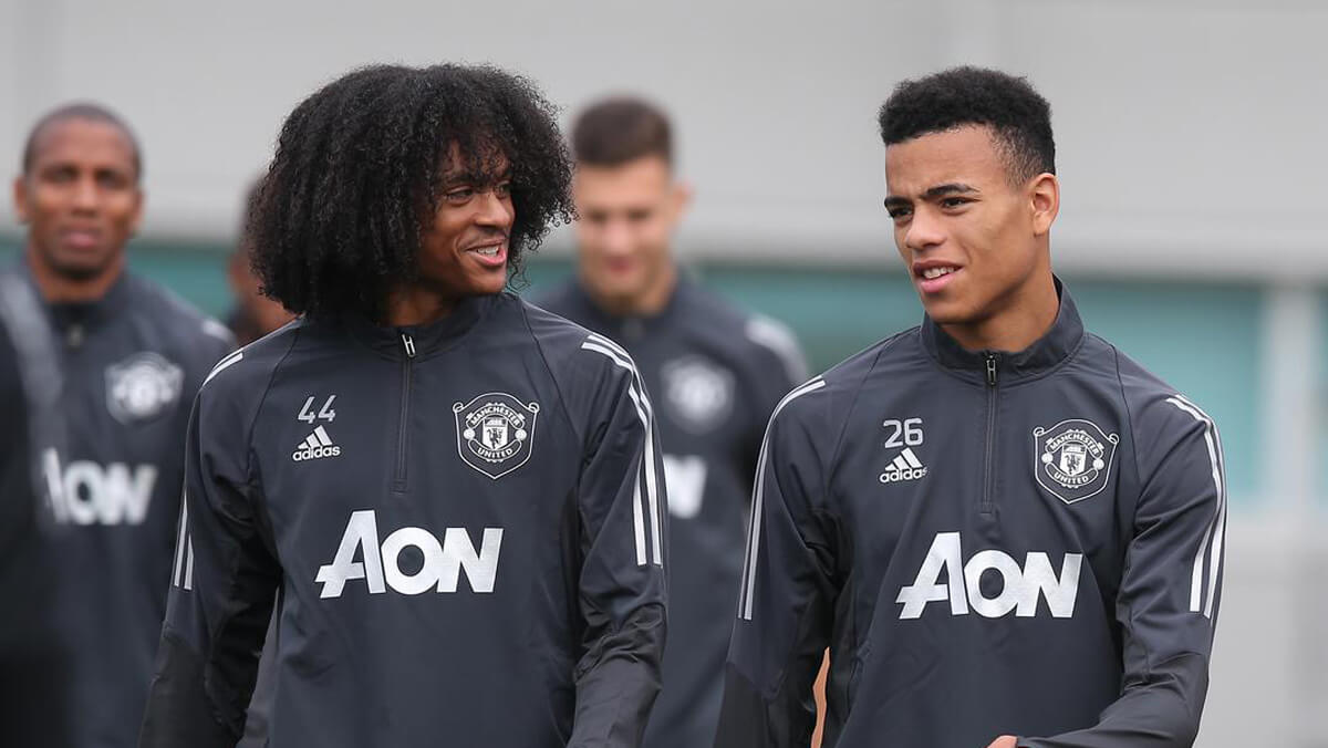 Mason Greenwood and Tahith Chong