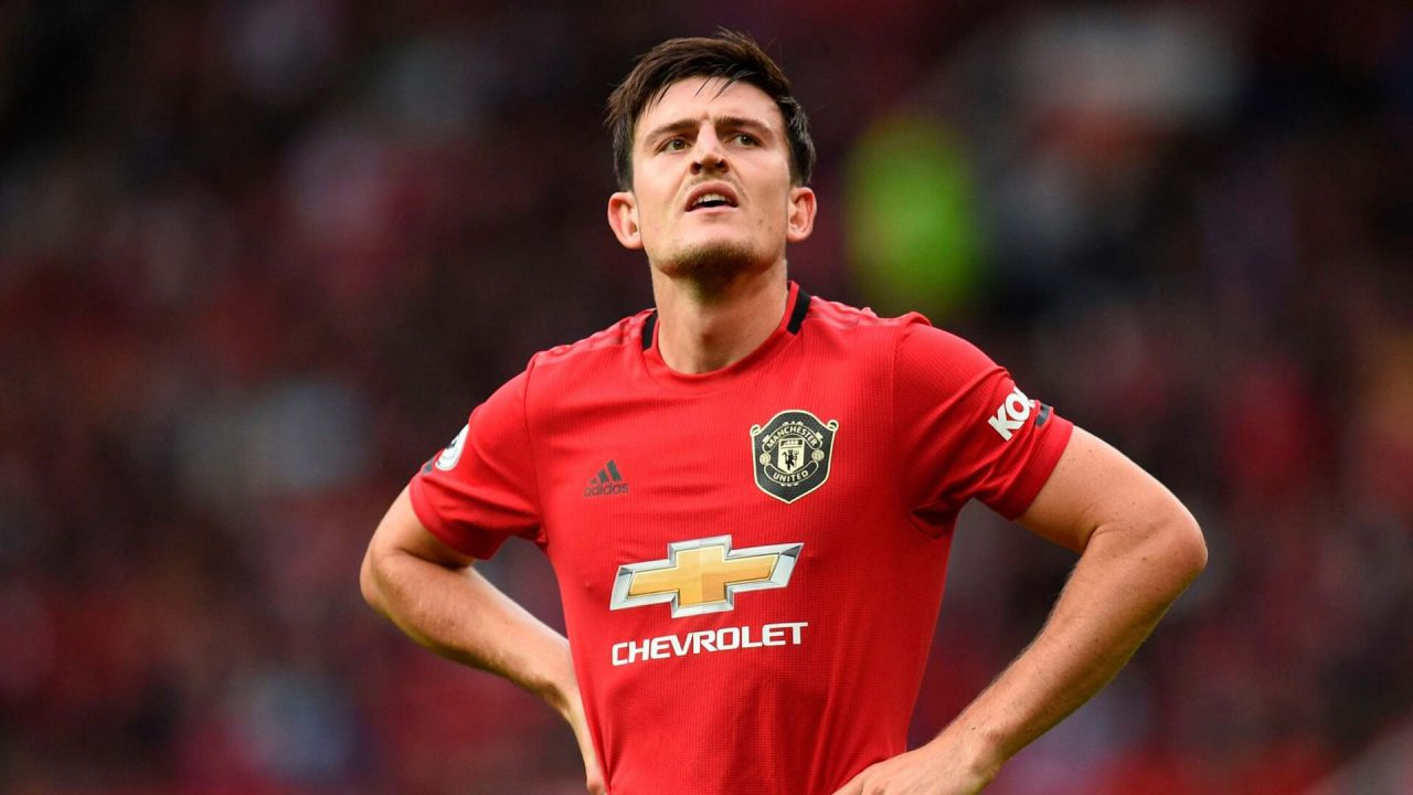 Harry Maguire against Leciester City