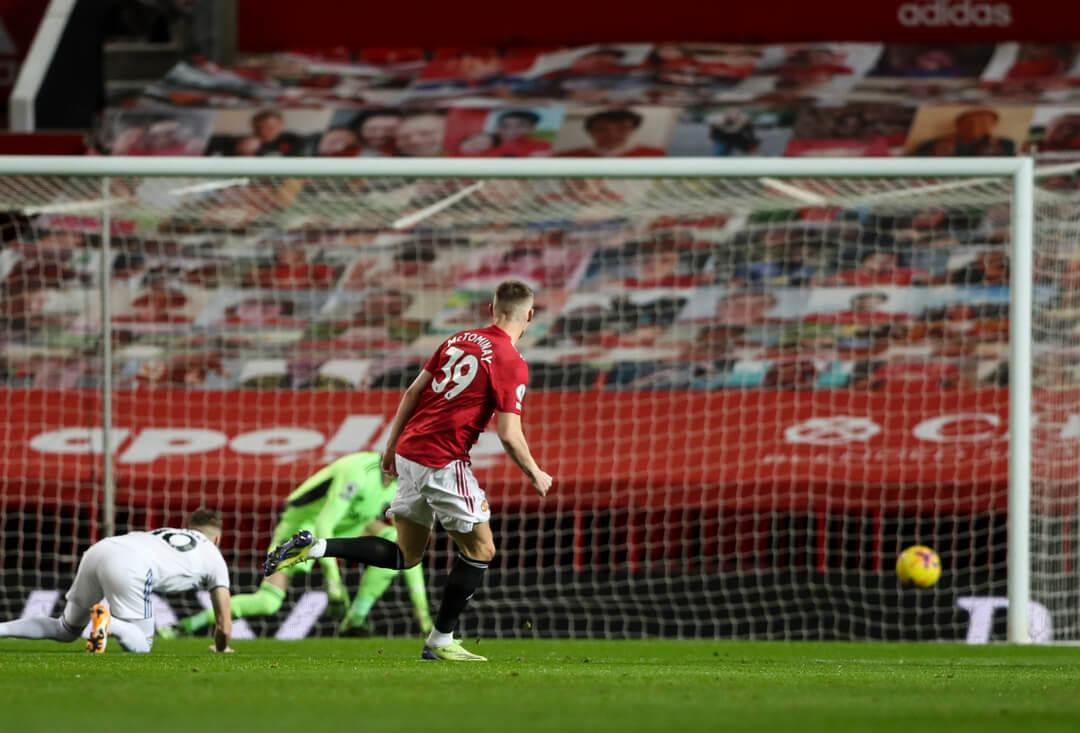 Scott McTominay first goal vs Leeds United